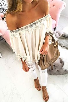 Adorable off-the-shoulder top