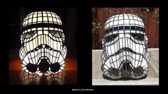 Stormtrooper Helmet Table Lamp  Stained Glass  door MidianCraftworks