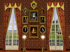 Palace:  curtains on our window flats
