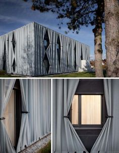 Residential Reskin: 2 Flats Wrapped in Lovely Fabric Facades