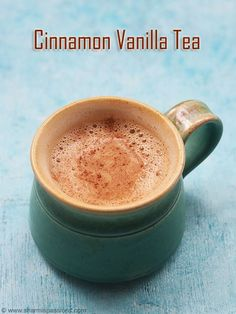 vanilla cinnamon tea recipe a fragrant flavourful tea.easy to make vanilla cinnamon chai recipe.how to make vanilla cinnamon tea recipe. Milk Tea Recipes, Coffee Recipes, Coconut Milk Recipes, Cake Recipes, Yummy Drinks, Healthy Drinks, Nutrition Drinks, Refreshing Drinks, Healthy Eats