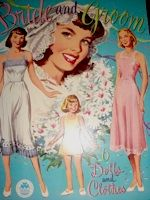 all little girls loved playing with bride paper dolls!