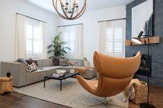 45 Incredible Living Room Makeovers From Your Favorite HGTV Shows Best Living Room Design, Living Room Designs, Living Spaces, Danish Furniture, Contemporary Furniture, Furniture Design, House Inside, Bedroom Sets, Hgtv
