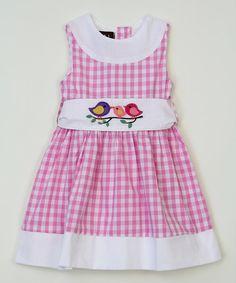 Pink Gingham Bird Dress - Infant, Toddler & Girls #zulily #zulilyfinds