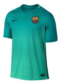Bring your Barcelona passion to the pitch with this Nike Third Replica Jersey! The Barcelona graphics on this gear will let everyone know what club you support. In this Barcelona apparel, you will celebrate goal after goal in Nike comfort. Barcelona Jerseys, Nike 2016, Nike Free Runners, Nike Free Shoes, Nike Shoes, Nike Green, Lionel Messi, Mens Tops, Soccer Cleats