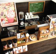 カフェcafe 昔の作品です ちょっと上からのアングル #ミニチュア#miniature#カフェ#cafe#ハンドメイド#handmade#フェイクフード#fakefood by mysiderikko
