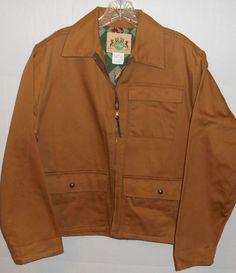 Vintage 1978 Ideal Hunting Zip Up Brown Jacket Animal Lining Medium 38-40 USA #Ideal #BasicJacket