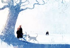 He usually doesn't like strangers. #pascalcampionart