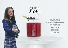 """Are you planning a Gilmore Girls themed party? We have a drink menu just for you! Disclaimer: """"The Rory"""" is *not* the same as the drink Emily created for"""