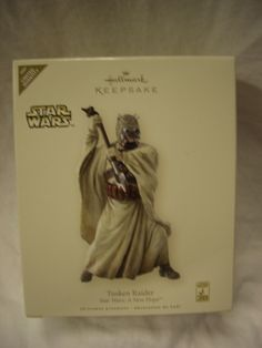 Hallmark Ornament Tusken Raider Star Wars: A New Hope ~ Dated 2007. This ornament is being sold on Ebay for as much as $50.  I am asking $35. Mint in box!  Great Christmas gift for any Star Wars Fan.