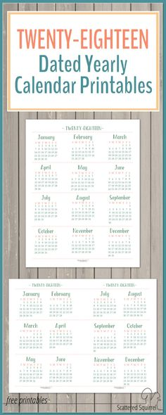 2017 Yearly Calendar Printables are Here! 2017 yearly calendar - yearly calendar