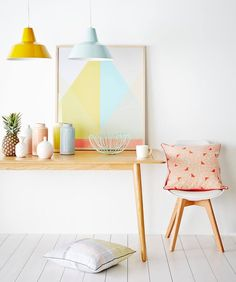 Pastels and timber