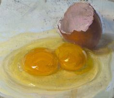 """Double Yolk, 3/10/2015"" by Duane Keiser #Realism"