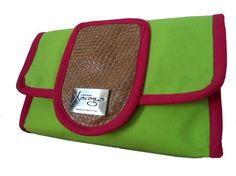 Neon Green and Hot Pink Clutch