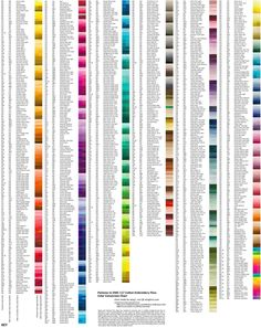 pantone colors to dmc thread chart - WOW!