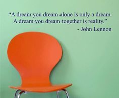 a dream you dream JOHN LENNON QUOTE decal by dabbledownJunior