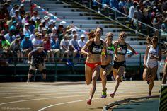 Bell lap! Jenny Simpson, Katie Mackey, Mary Cain at USATF Nationals.