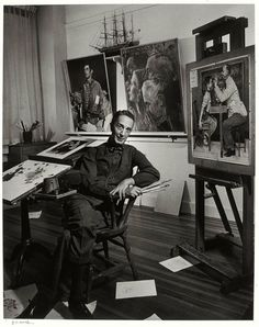 Norman Rockwell, photographed by Yousuf Karsh, 1956