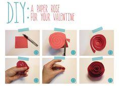 DIY: A Paper Rose DIY Flowers