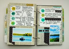 Me, With My Head in the Clouds: June Art Journaling So Far