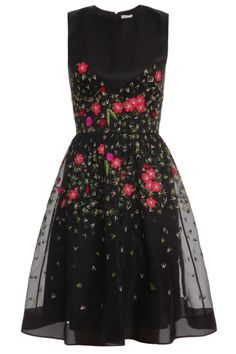 Primrose Floral Flared Dress By TEMPERLEY LONDON