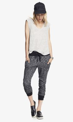 Contrast Trim French Terry Jogger Pant | Express
