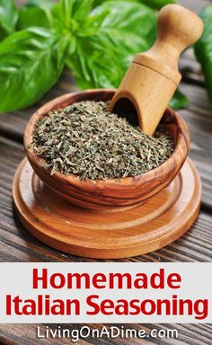 Homemade Italian Seasoning Recipe - Homemade Seasonings Mixes And Blends Try these homemade seasoning mix recipes, which are easy to make and can save you a lot of money. Check here for some easy recipes for seasoning mixes. Homemade Italian Seasoning, Homemade Spices, Homemade Seasonings, Seasoning Mixes, Seasoning Recipe, How To Dry Oregano, How To Dry Basil, Curry, Butter