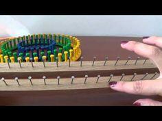 Tutorial per costruire un telaietto rettangolare per lavorare la lana - How to make a knitting loom - YouTube