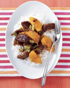 beef & orange stir fry