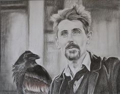 Darren and the Raven. Drawing, 90X70 cm.