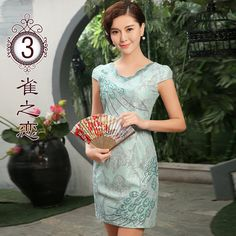 Contemporary Scoop Neck Qipao Cheongsam Style Dress - A - Qipao Cheongsam & Dresses - Women