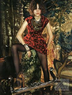 ☆ Freja Beha Erichsen | Photography by Javier Vallhonrat | For Vogue Magazine UK | September 2009 ☆ #Freja_Beha_Erichsen #Javier_Vallhonrat #Vogue #2009