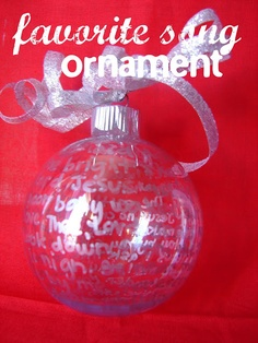 Homemade Christmas Ornament {CCC}