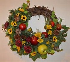 Image result for country apple, sunflower wreath
