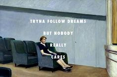 flyartproductions: This life ain't what it seems Intermedio (1963), Edward Hopper / Free Cake, Curtismith We at Fly Art are proud to support local artists. Check out the song here and more Curtismith here.