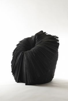 Nendo . cabbage chair black, 2008 - texture, structure and the way to wear.