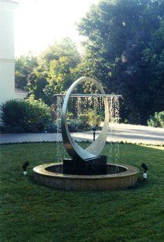 Handmade Aeon Fountain by Mark Oldland Art Outdoor Garden Statues, Garden Water Fountains, Indoor Fountain, Water Fountain Design, Modern Fountain, Outdoor Water Features, Water Features In The Garden, Landscape Design, Garden Design