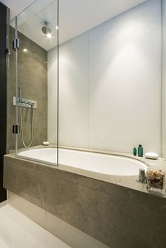 Convert to a bath – shower combination: A benefit of a shower-bath combination means that, if you ever sell your home, buyers can always revert back to the bathtub if they have children. Bathroom Renos, Bathroom Renovations, Small Bathroom, Bathroom Ideas, Bathroom Signs, Bathroom Layout, Bath Ideas, Bathroom Interior, Bath Shower Combination