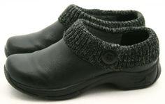 Dansko 39 Womens Shoes Size 8.5 - 9 KENZIE Black Sweater Leather Clogs Mules #Dansko #Clogs @ebay