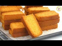 Homemade Dry Cake/ Cake Rusk Recipe for kids Bakery Style crispy Dry Cake Biscuit Bakery Style Cake, Bakery Cakes, Gourmet Recipes, Cake Recipes, Dessert Recipes, Desserts, Tea Time Snacks, Tea Rusk Recipe, Recipe For Rusks