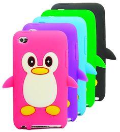 Funda pinguino de silicona con variedad de colores
