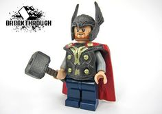 Thor 2 custom mini figure... He looks to bald! Loki does too!!!