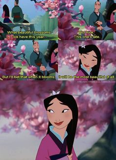 I always liked Mulan's father, even though he is strict.  Love this!