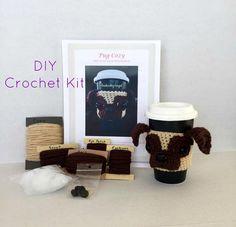 Pug Crochet Kit/Dog Crochet Kit/DIY Crochet Kit/Amigurumi Kit/Crochet Pattern/Amigurumi Kit/HookedbyAngel