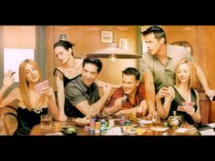 Cast of #Friends including Jennifer Aniston and Courtney Cox in a dreamy state of poker playing