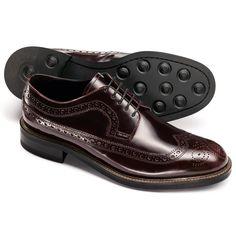 8fe84989d825 Ox blood Brunswick Derby brogue shoes Mens Business Shoes