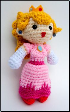 amigurumi princess peach - I might be able to figure out how to do this