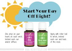 "Young Living Essential Oils - Joy and Stress Away | Come read all about, ""My Morning Routine with Essential Oils 