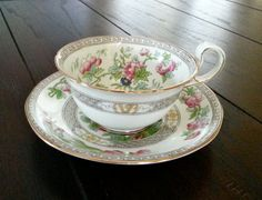Antique Aynsley early Indian Tree pattern tea cup by Pickedtwice, $54.00