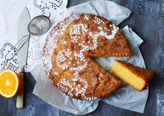 glutenfri kage med appelsin og polenta, opskrift